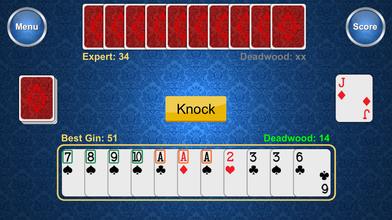 Kuralsoft releases Best Gin Rummy for iOS - Popular Two-Payer Card Game Image